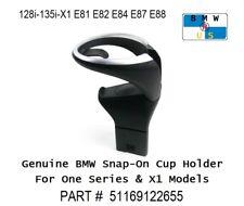 BMW NEW OEM Snap On Cup Holder 128i 135i X1 E81 E82 E84 E87 E88 51169122655