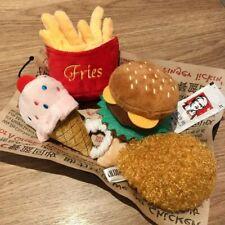 4PC/SET Hamburger Plush Soft Stuffed Dog Squeaky Toys French Fries Shape Chew