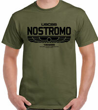 Nostromo T-Shirt 180286 Mens Alien Film Movie USCSS Weyland-Yutani Sci-fi