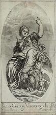 Valentin ultraconservadora-personificación venecia-después de Veronese grabado 1680
