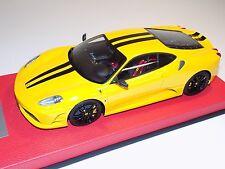1/18 Looksmart MR Ferrari F430 Scuderia Yellow Black Stripe Leather 25 pcs