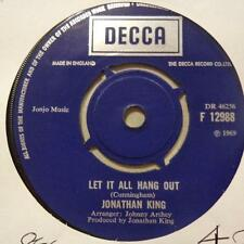 "Jonathan King(7"" Vinyl 1st Issue)Let It All Hang Out / Colloquial Sex-UK-Ex/Ex-"