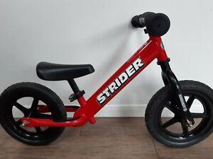 STRIDER 12 SPORT RED BALANCE BIKE FREE FAST SHIPPING CHILDREN BEGINNER