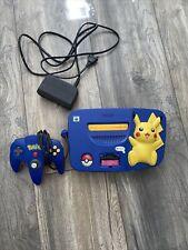 Nintendo N64 Pokemon Pikachu Edition Blau Spielekonsole mit Controller