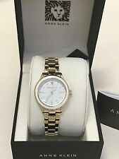 NEW ARRIVAL! ANNE KLEIN LADIES CHAMPAGNE GOLD-TONE BRACELET WATCH AK/2332WTGB