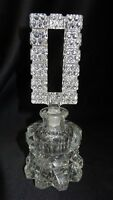 Vintage Antique Crystal Glass Perfume Bottle with Stopper