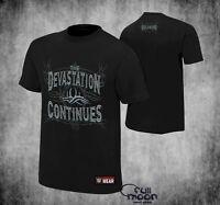 New WWE Bill Goldberg  Devastation Continues  Authentic WWF Mens T-Shirt
