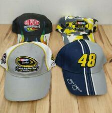 Lot of 4 Nascar Racing Hats Jimmie Johnson Jeff Gordon Nextel Sprint 2008