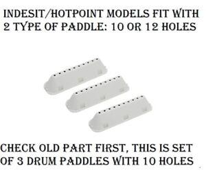 Hotpoint WMJLF842 WMJLL742 NSWF743UW NSWF843CW NSWM743UW NSWM843CW Drum Paddles