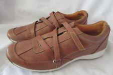 Rockport Women's Size 8 Brown Leather Slip On Adjustable Strap Walking Shoe
