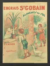 Protège cahier ENGRAIS SAINT-GOBAIN Aliments du sol oie goose copybook
