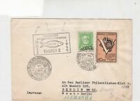 Brasil 1955 Philatelic exhib. cancel with fish cancel stamps cover ref 21799