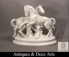 Gerold Pferde-Gruppe in Weißes Porzellan