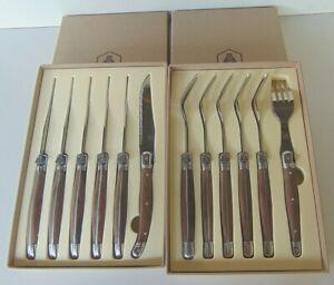 LAGUIOLE basic Steakmesser komplett Edelstahl und Gabel-Set 12-teilig
