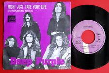 "DEEP PURPLE MIGHT JUST TAKE YOUR LIFE/CORONARIAS REDIG 1974 RARE YUG 7"" PS NMINT"