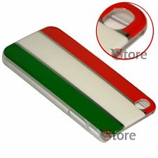 Cover Custodia Per iPhone 4 4S Bandiera Italia Cromature rigida