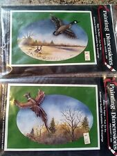 LOT OF 2 PAINTING DIMENSIONS KIT VINTAGE 1983 PHEASANT 1003 CANADA GOOSE 1004