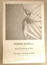 Sandra Blow - Royal Academy show 1979     2018 REISSUED ART EXHIBITION POSTER