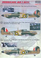 Print Scale Decals 1/72 HAWKER HURRICANE Mk.I British Aces