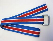 Brooks Brothers Men's Striped Grosgrain Ribbon Double D-Ring Belt  S NWOT