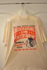 Reebok Blackhawks 6-Time Champions 2015 2XL T Shirt