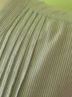 Yessica Grey Cotton Pinstripe Prairie Lagenlook Pintuck Tunic Top L 14 16