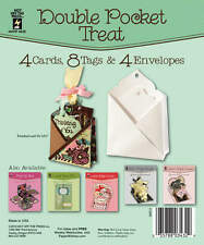 DOUBLE POCKET TREAT DIE-CUT CARDS & ENVELOPES-Greeting/Tags-Paper Craft-Blanks