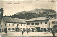 1916 Caporetto La Piazza Gostilna Studeneli Mesnica Carri Soldati FP B/N VG ANIM