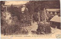 65 - cpa - CAPVERN - La buvette, le parc et la route du Bourridé ( i 401)