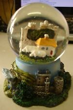 IRELAND SHEEP WITH castle and cottage WATERBALL/SNOW GLOBE