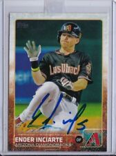 Ender Inciarte, 2015 Topps,  ROOKIE!!!, on Card AUTOGRAPH!!!