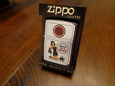 LUCKY STRIKE PINUP GIRL WITH DOG ZIPPO LIGHTER MINT IN BOX 1992 RARE