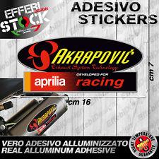 Adesivo Sticker Akrapovic Aprilia Racing RSV 1000 R Tuono Factory 200° Gradi