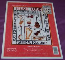"""Cross Stitch Pattern - MUSIC LOVER - Candamar Designs - """"For Someone Special"""""""