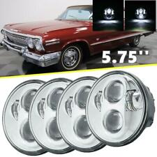 DOT 5.7''in 5-3/4'' LED Headlight Sealed Halo DRL For Chevrolet Impala 1958-82