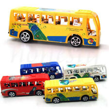 1xSchool Bus Diecast Plastic Model Pull Back Educational Toy Child Birthday Gift