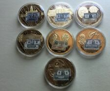 Banknotes Of The USA, 24k Layered 5 Oz Size Coins,lot of 7 different