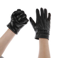 Leather Gloves Full Finger Mens Motorcycle Driving Winter Warm Touch Screen NT