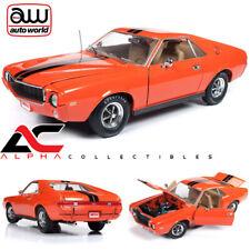 """AUTOWORLD AMM1170 1:18 1969 AMC AMX """"HEMMINGS COVER CAR"""" ORANGE"""