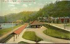 1909 BEAVER FALLS PA P&LE Railroad Station Depot Pittsburgh & Lake Erie postcard