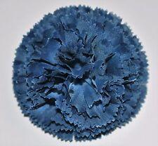 "3"" Navy Blue Carnation Silk Flower Hair Clip Wedding Handmade"