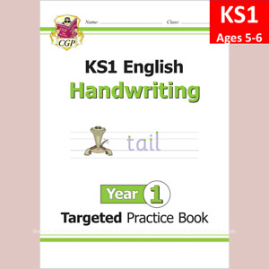 KS1 Year 1 English Targeted Practice Book Handwriting Ages 5-6 CGP