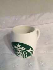 Starbucks Barrel 3oz Mini Mug  2010 White Green Mermaid Logo