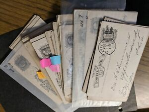 WOW! Big lot 46 LIBERTY #UX5 or UX7 Postal History Covers 1878+ AWESOME!
