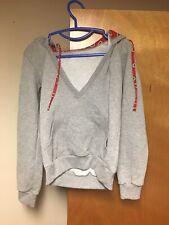 f13a4f396cc Ohio State Buckeyes V-Neck Hoodie Hooded Sweatshirt Junior Small Gray 50 50  OSU