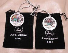2000-2001 John Deere Pewter Christmas Ornament - All New