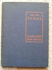 1938 MANHASSET HIGH SCHOOL YEAR BOOK, MANHASSET, LONG ISLAND, NEW YORK