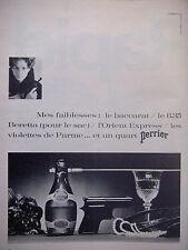 PUBLICITÉ DE PRESSE 1966 UN QUART PERRIER BACCARAT LE 6,35 BERETTA - ADVERTISING