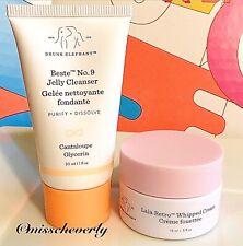 DRUNK ELEPHANT Lala Retro Whipped Cream 15ml/0.5oz+Beste Jelly Cleanser 30ml/1oz