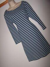 **JOULES** Sz 14 Blue White Stripe Shift Dress